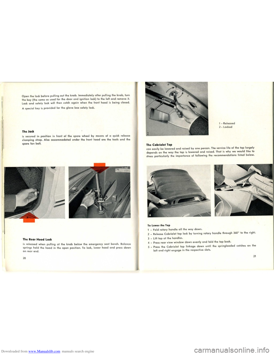 VOLKSWAGEN KARMANN GHIA 1958 1.G Owners Manual, Page 12