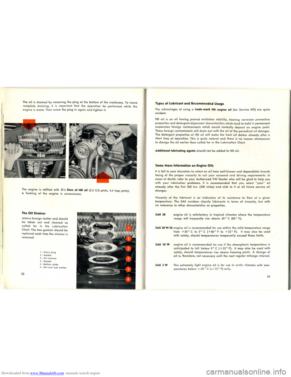 VOLKSWAGEN KARMANN GHIA 1958 1.G Owners Manual, Page 18