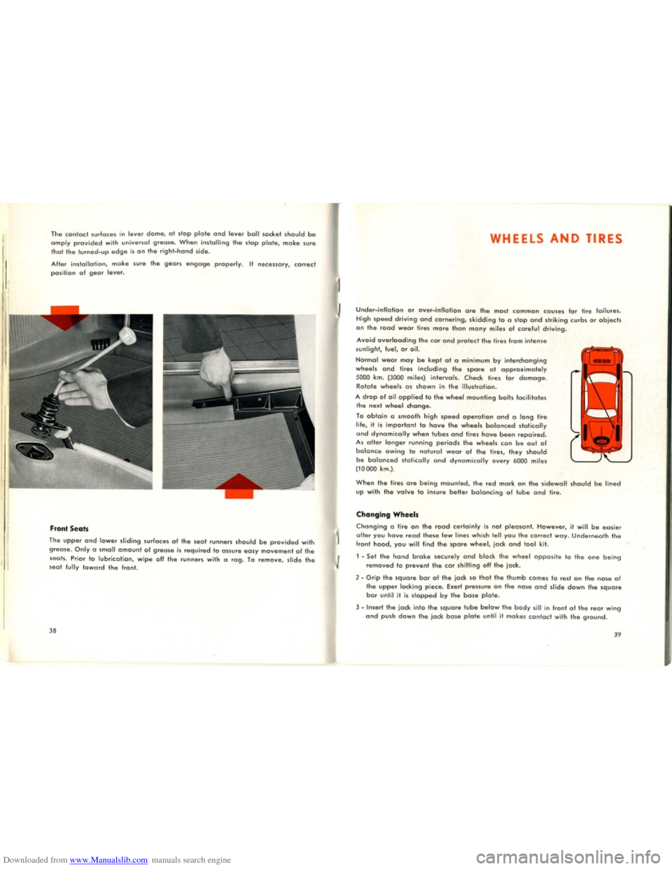 VOLKSWAGEN KARMANN GHIA 1958 1.G Owners Manual, Page 21