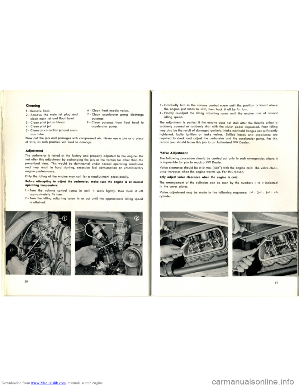 VOLKSWAGEN KARMANN GHIA 1958 1.G Owners Manual, Page 27
