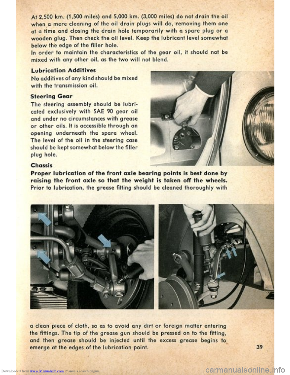 VOLKSWAGEN BEETLE 1960 1.G Owners Manual, Page 41