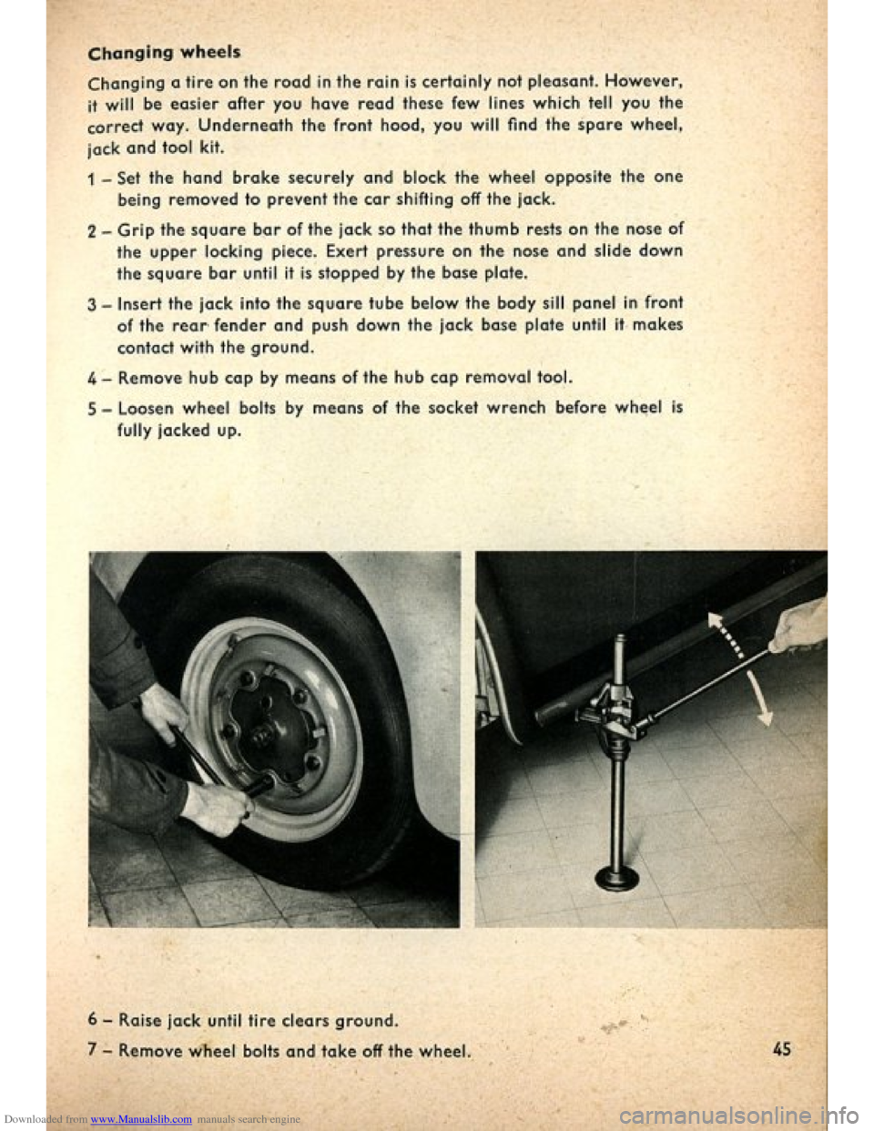 VOLKSWAGEN BEETLE 1960 1.G Owners Manual, Page 47