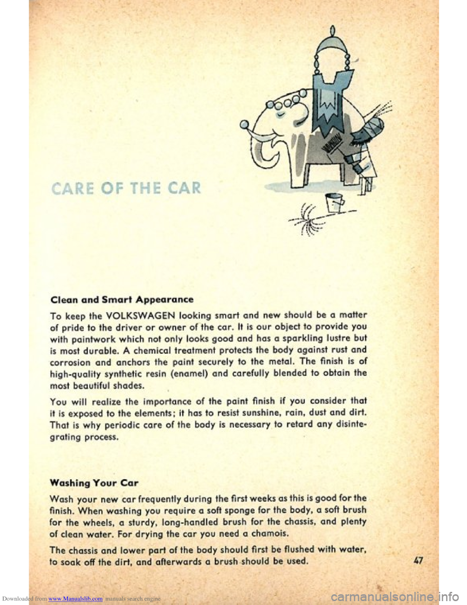 VOLKSWAGEN BEETLE 1960 1.G Owners Manual, Page 49