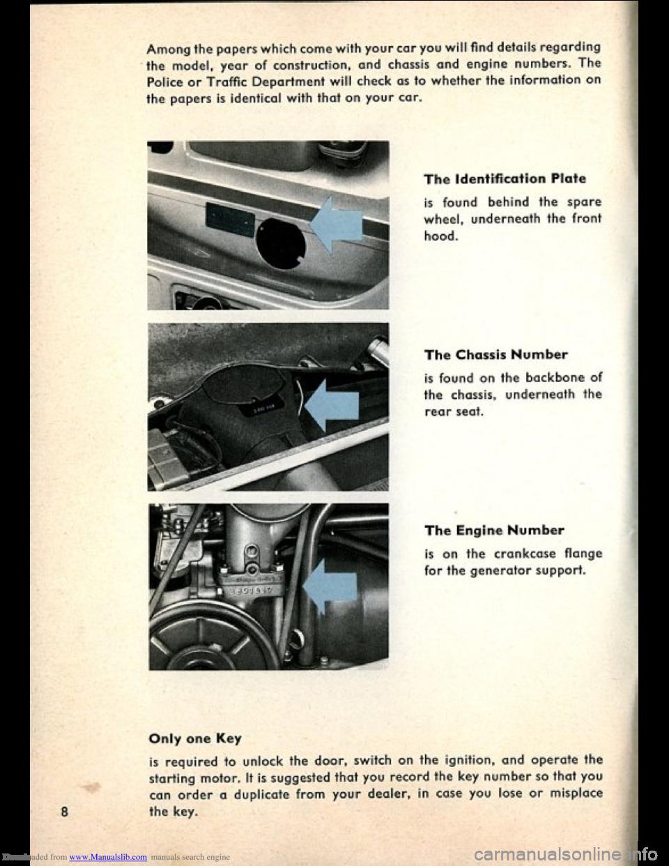 Volkswagen Beetle 1960 1 G Owners Manual border=