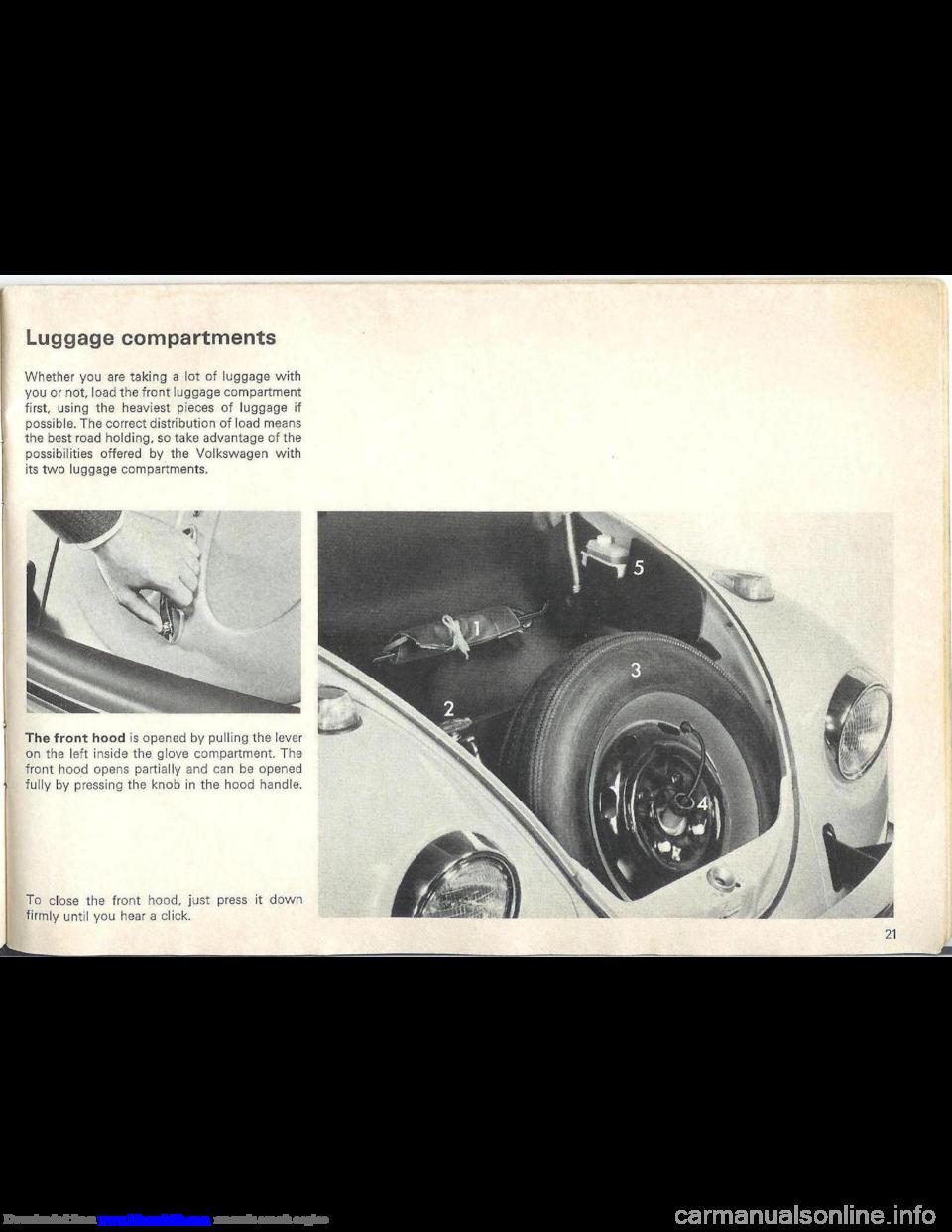 Volkswagen Beetle 1970 1 G Owners Manual border=