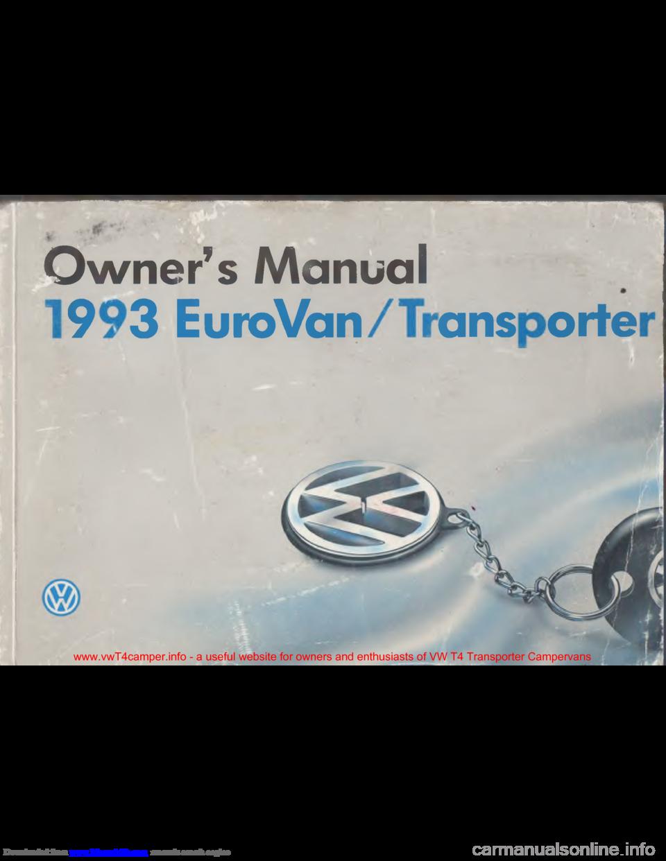 VOLKSWAGEN TRANSPORTER 1993 T4 / 4 G