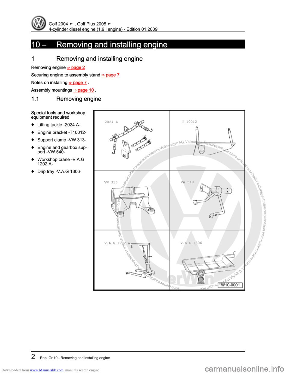 Volkswagen Golf Plus 2005 1k 5g Service Workshop Manual Vw 1 8 Engine Diagram Page