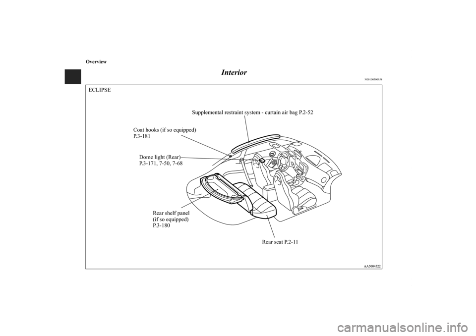 MITSUBISHI ECLIPSE 2010 4.G Owners Manual, Page 7