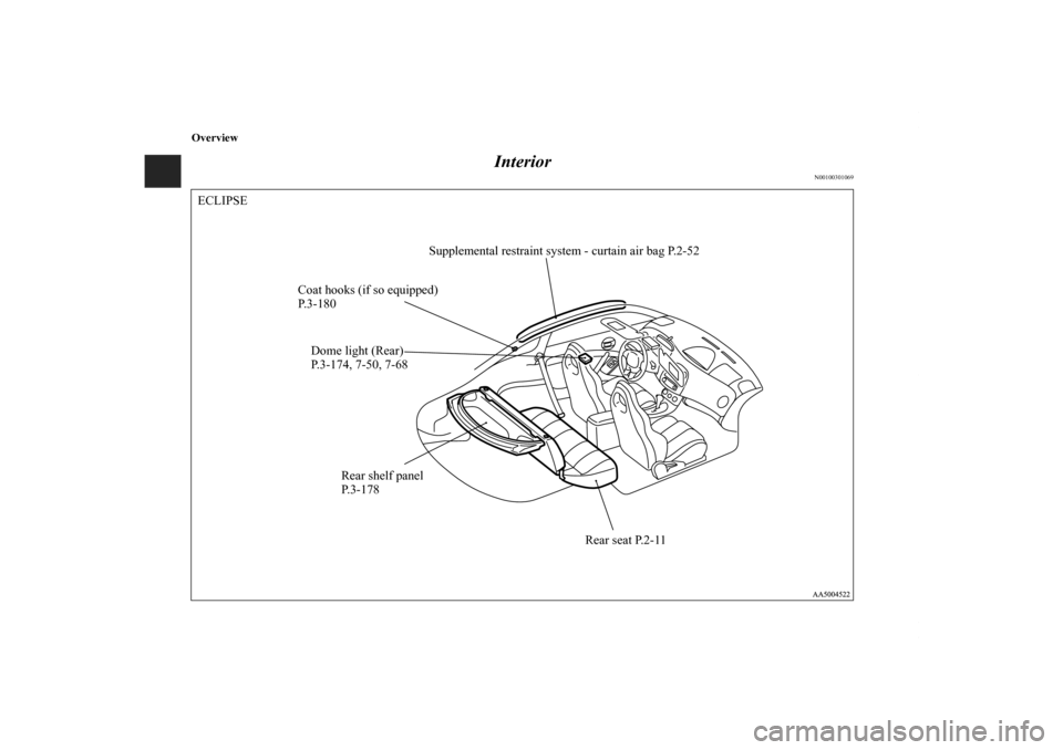 MITSUBISHI ECLIPSE 2011 4.G Owners Manual, Page 7