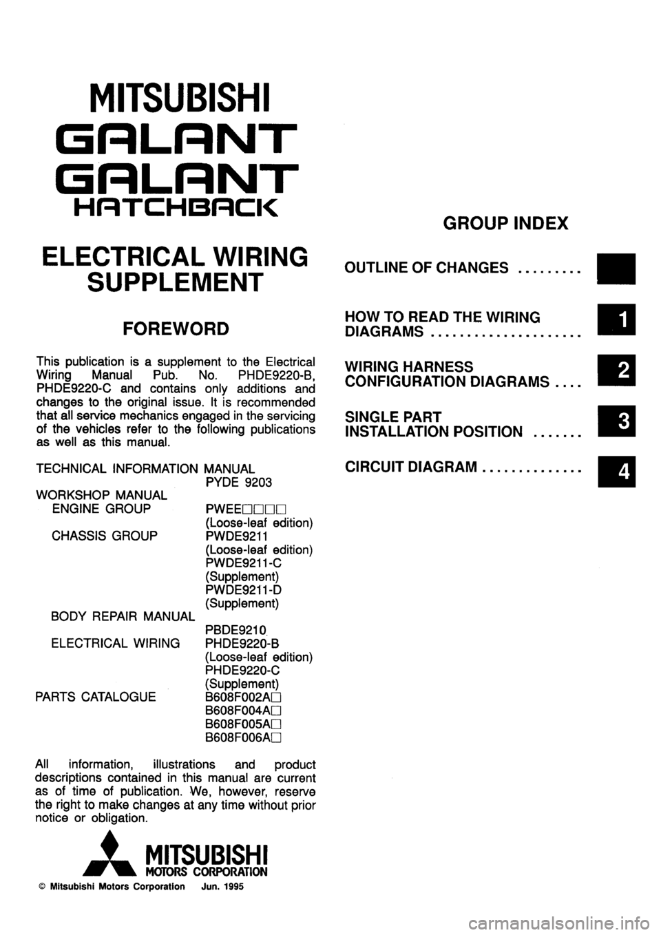 Mitsubishi Galant 1996 7g Electrical Wiring Diagram Workshop Manual 4g63 Wire Data Schema