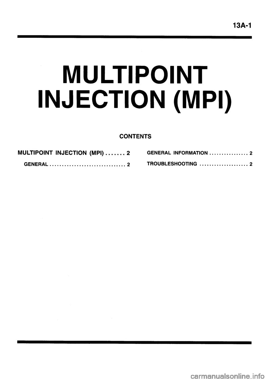 Mitsubishi Galant 1996 7 G Workshop Manual