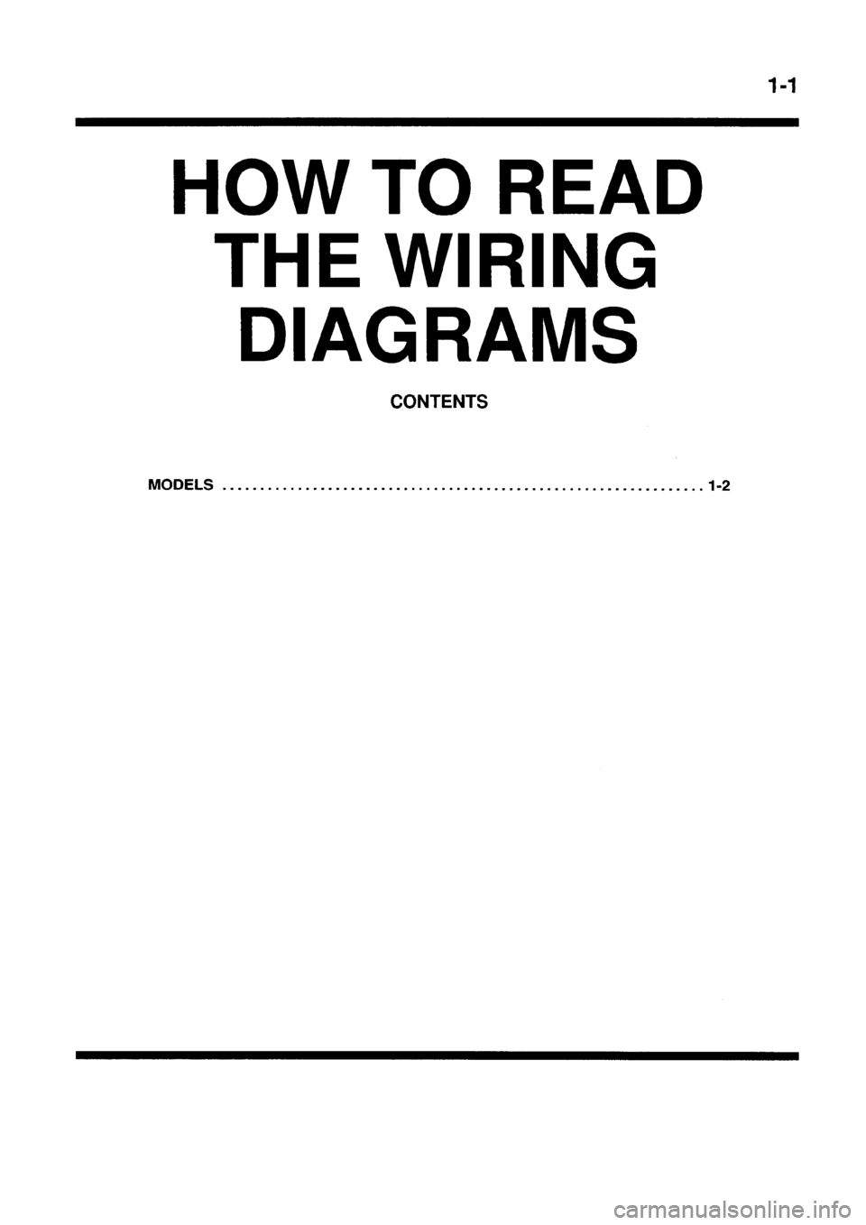 Mitsubishi Galant 1998 8g Electrical Wiring Diagram Workshop Manual Montero