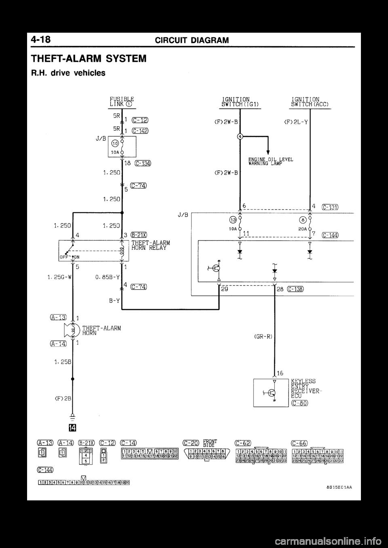 MITSUBISHI GALANT 1998 8.G Electrical Wiring Diagram Workshop Manual
