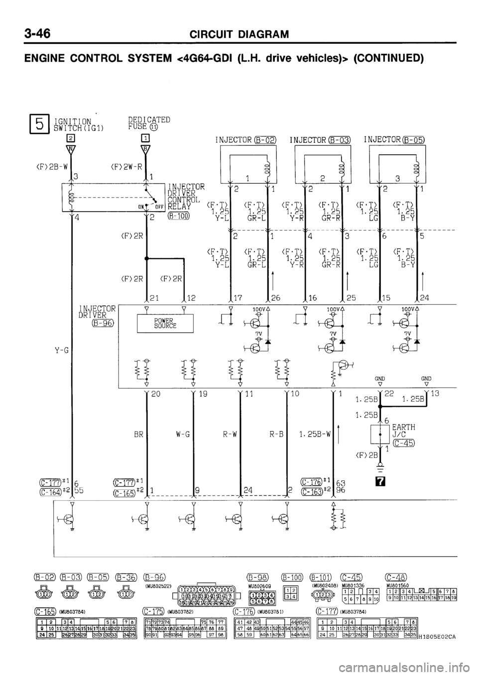 Mitsubishi Galant 2001 8 G Electrical Wiring Diagram Workshop Manual 404 Pages Page 110