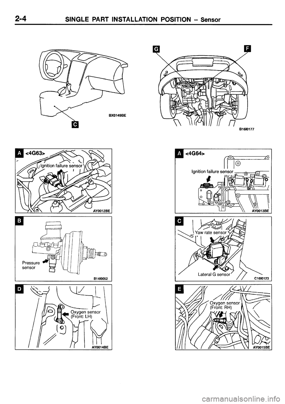 mitsubishi galant 2001 8 g electrical wiring diagram workshop manual
