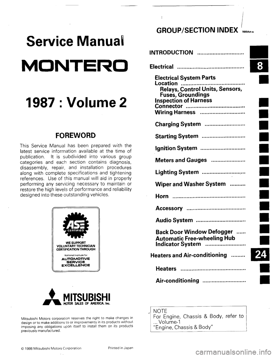 2000 mitsubishi montero sport repair manual