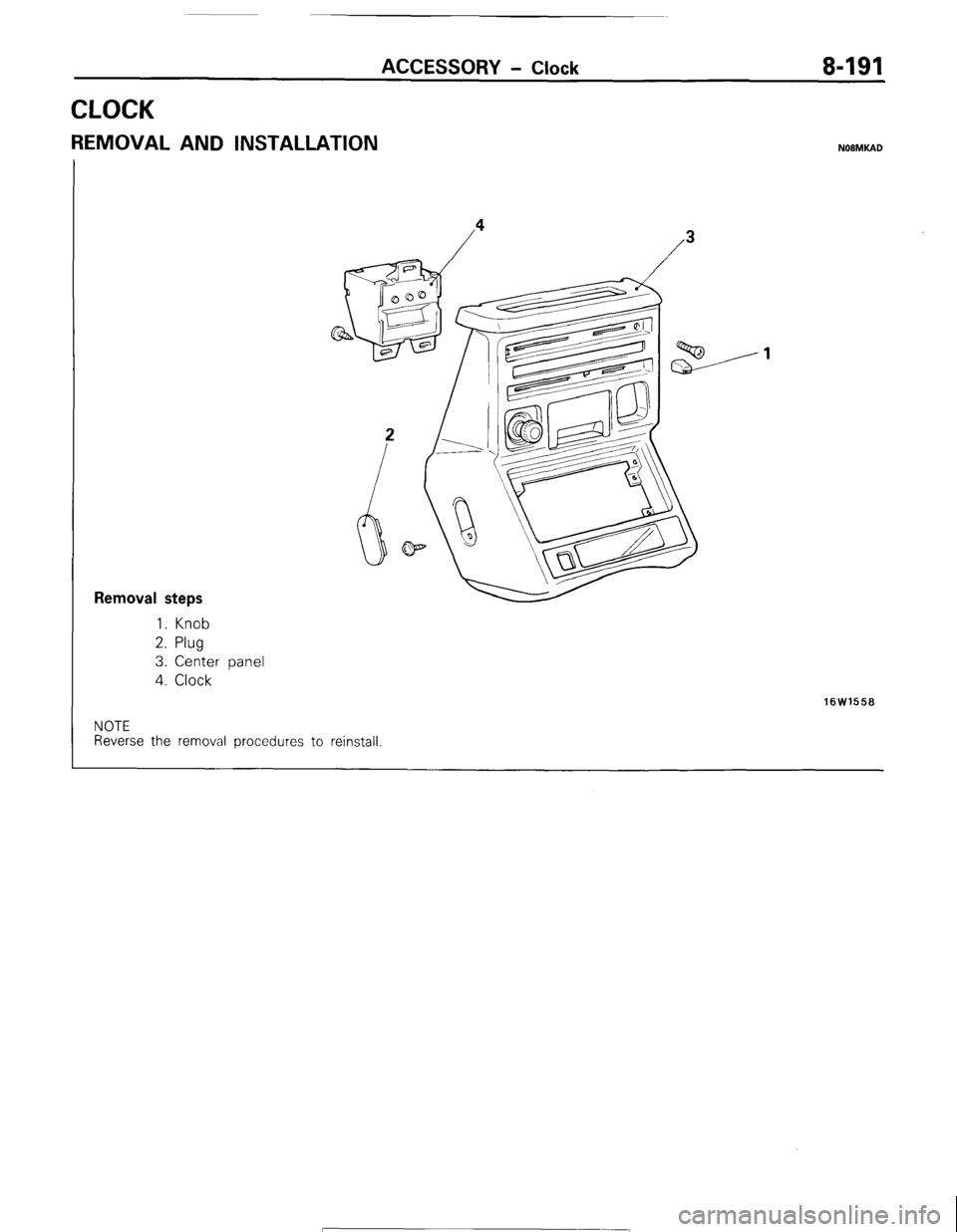 Mitsubishi Montero 1987 1g Workshop Manual Wiring Diagram For