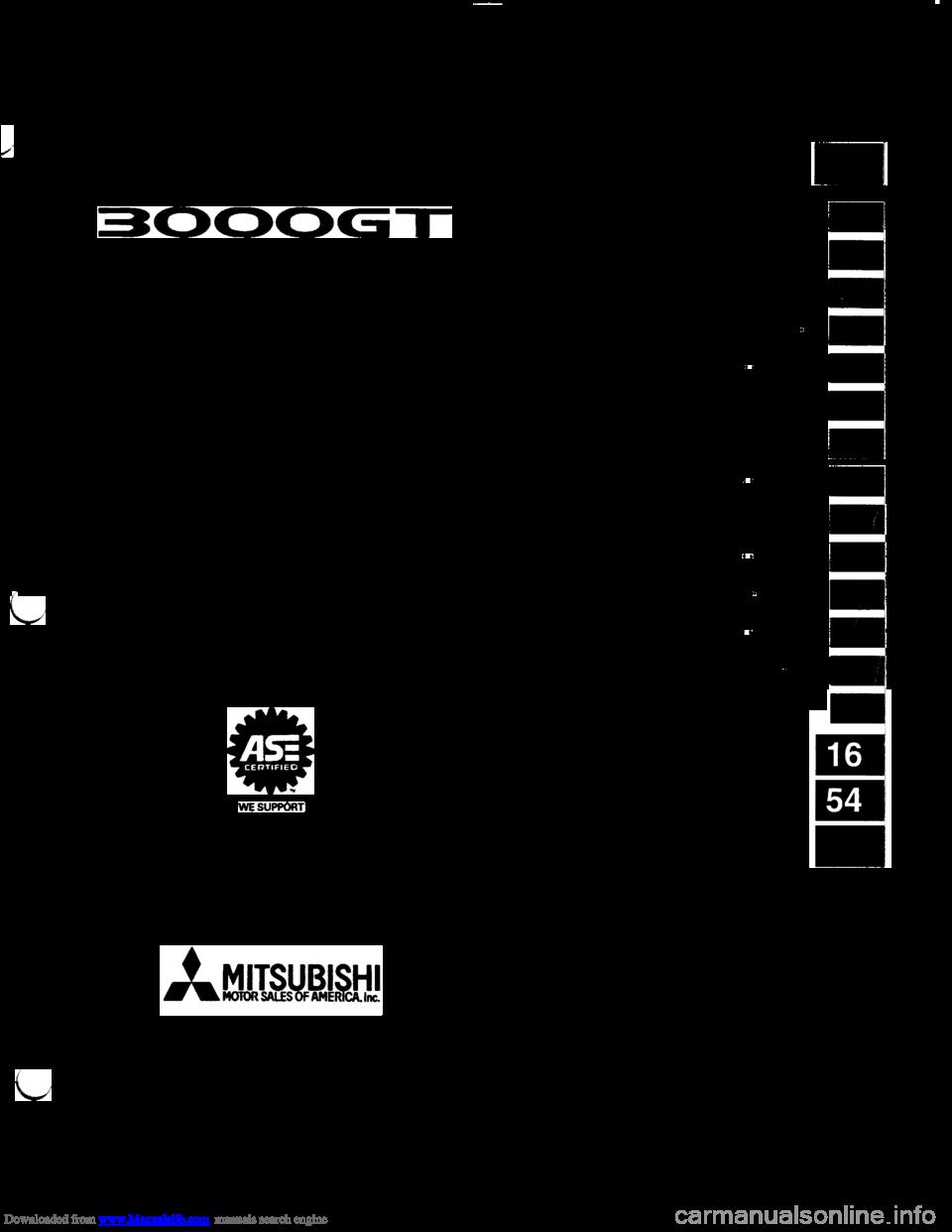 Mitsubishi 3000gt 1992 2g Workshop Manual Wiring Diagram