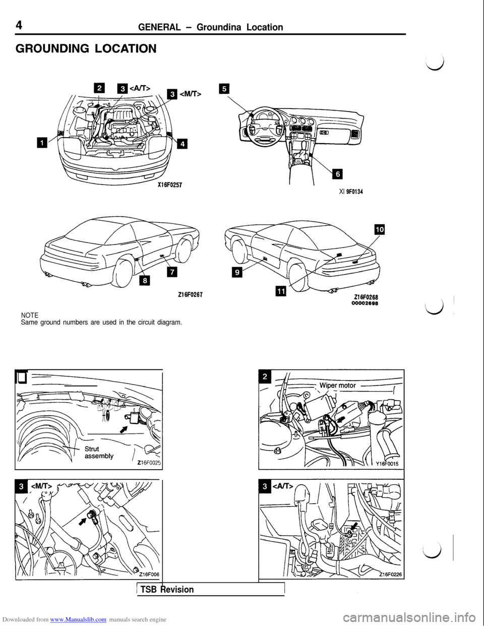 MITSUBISHI 3000GT 1993 2.G Workshop Manual, Page 6