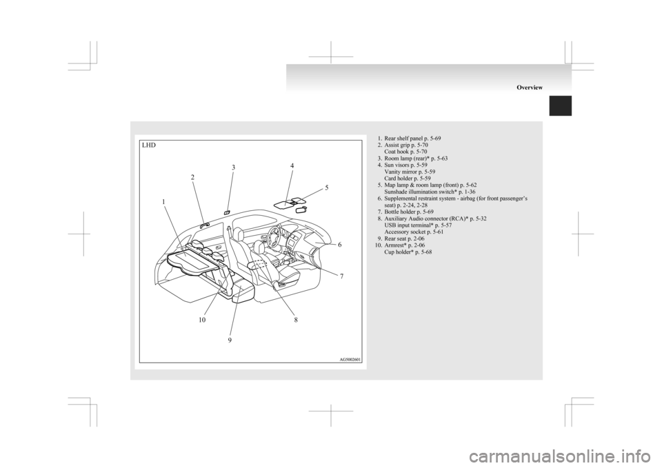 MITSUBISHI ASX 2009 1.G Owners Manual, Page 7