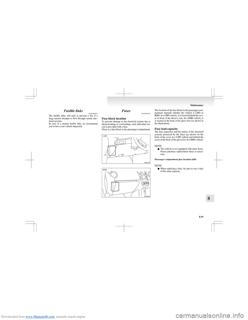 Colt Fuse Box Location Detailed Schematics Diagram 2009 Mitsubishi Outlander 10 G Owners Manual Fuel Pump Control Module