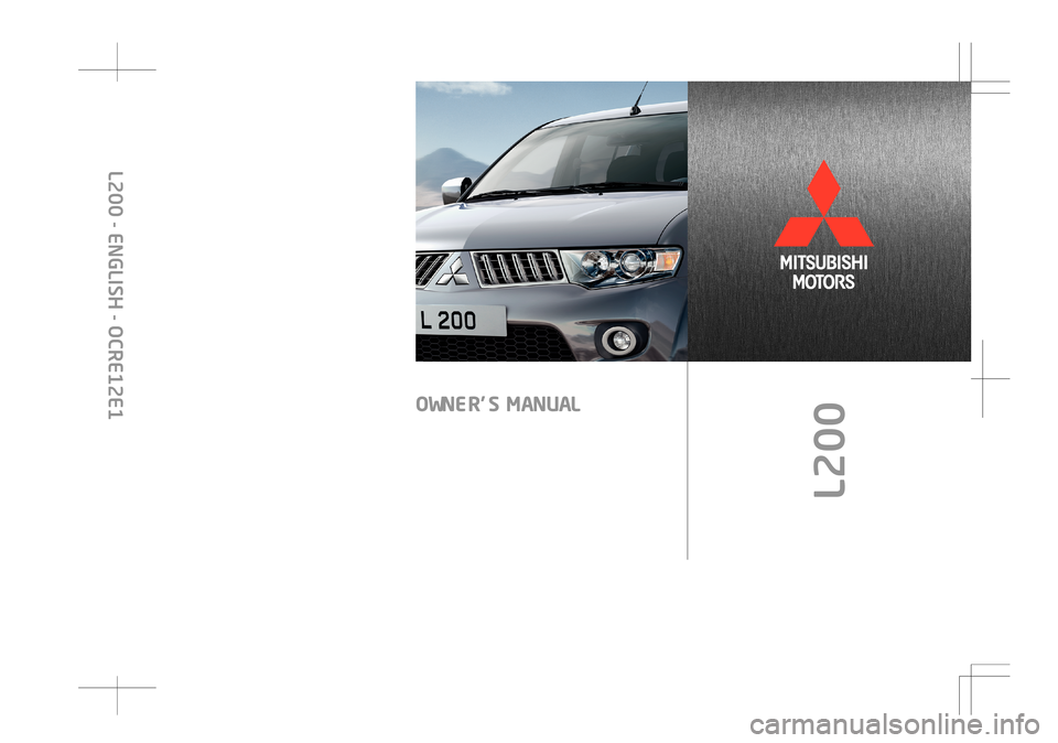 MITSUBISHI L200 2010 4.G Owners Manual, Page 1