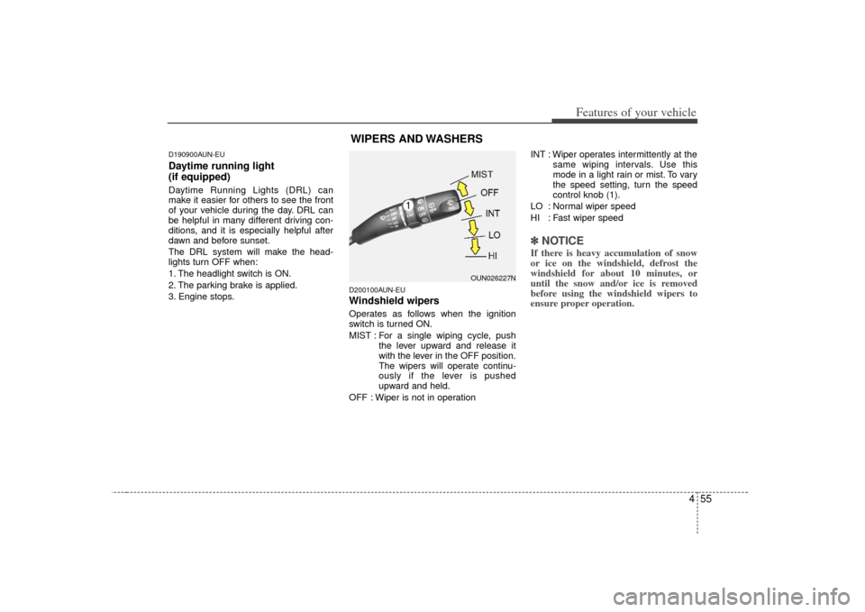 KIA Carens 2007 2.G Owners Manual, Page 134
