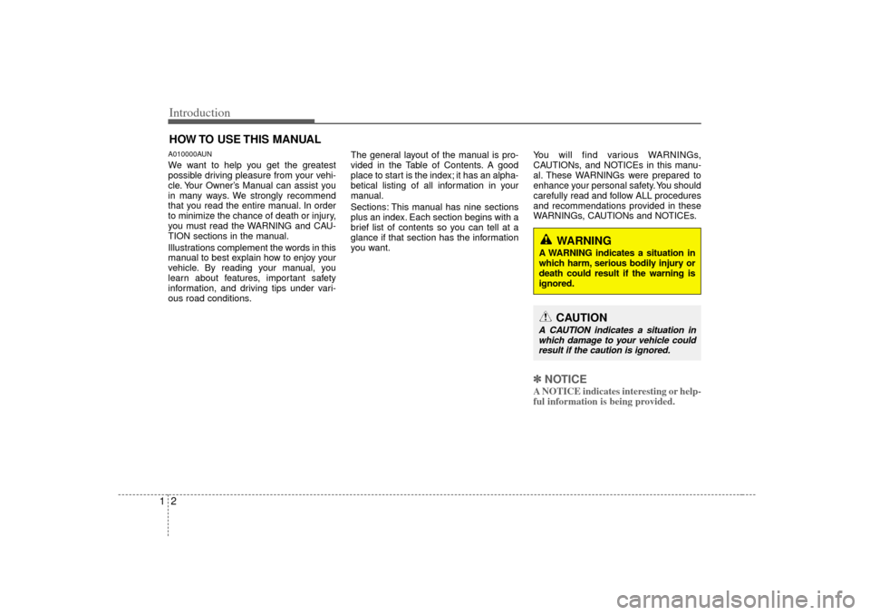 KIA Carens 2007 2.G Owners Manual, Page 5