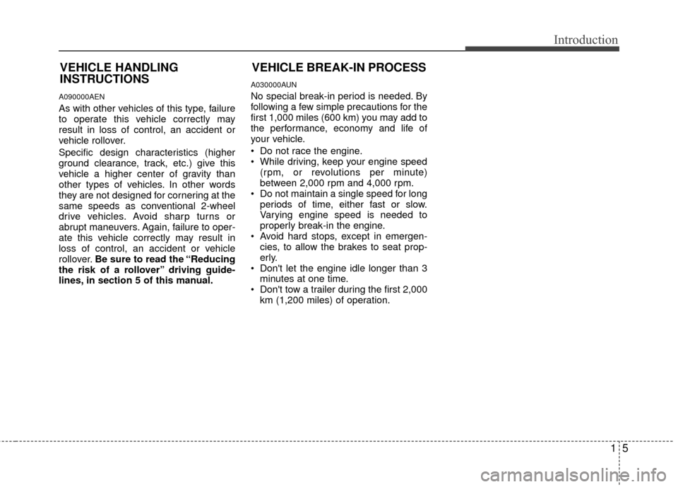 KIA Borrego 2011 1.G Owners Manual, Page 8