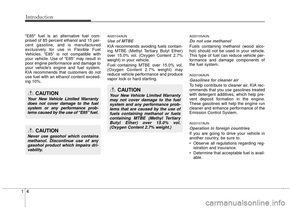 KIA Sportage 2011 SL / 3.G Owners Manual, Page 7