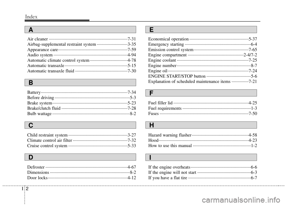 KIA Cerato 2012 1.G Owners Manual, Page 5