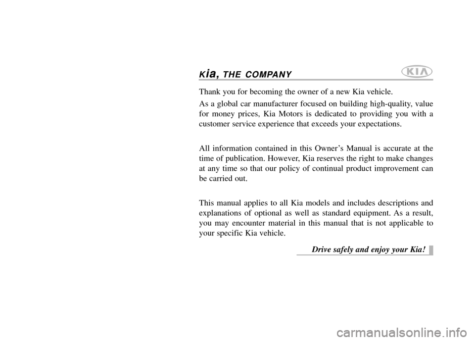KIA Carens 2013 3.G Owners Manual, Page 1