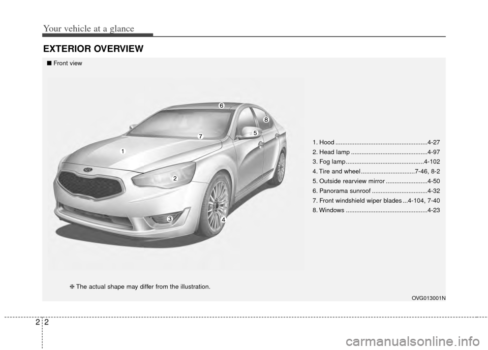 KIA Cadenza 2014 1.G Owners Manual, Page 10