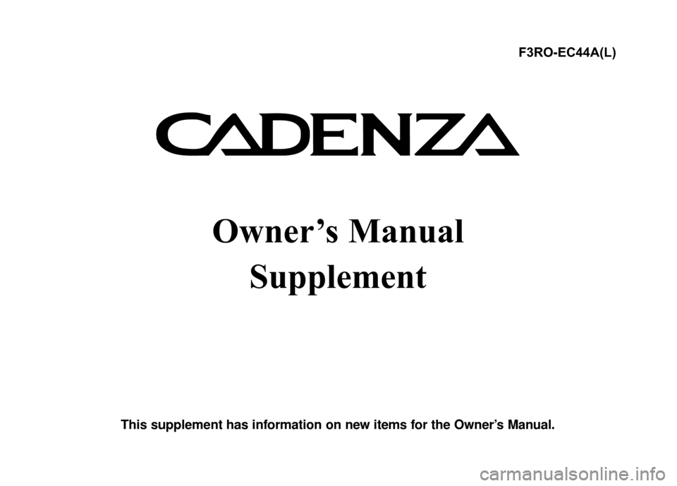 KIA Cadenza 2015 1.G Owners Manual, Page 4