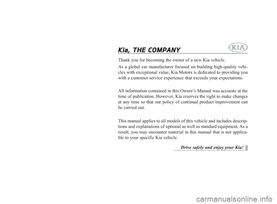 KIA K900 2015 1.G Owners Manual, Page 1