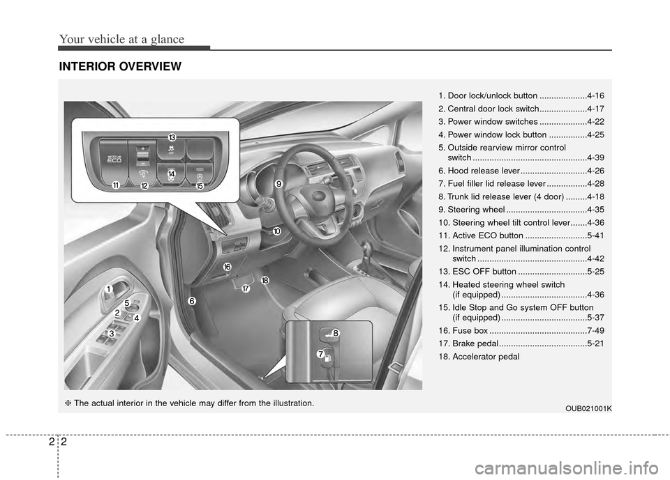 KIA Rio 2015 3.G User Guide, Page 11