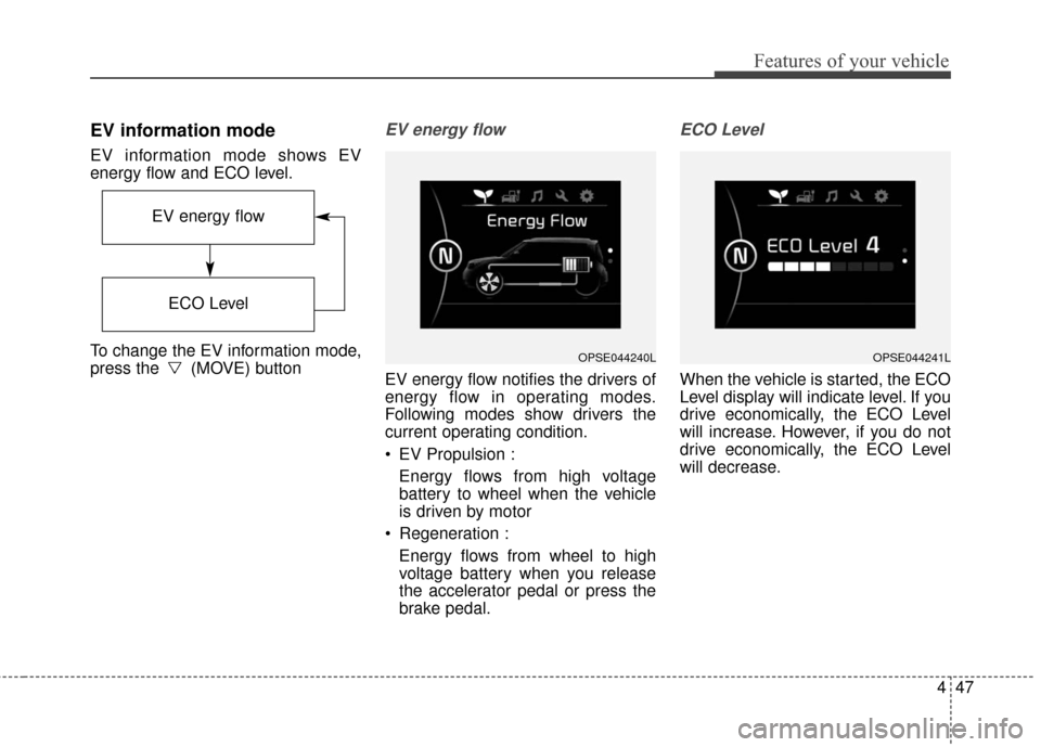 KIA Soul EV 2017 2.G Owners Manual, Page 117