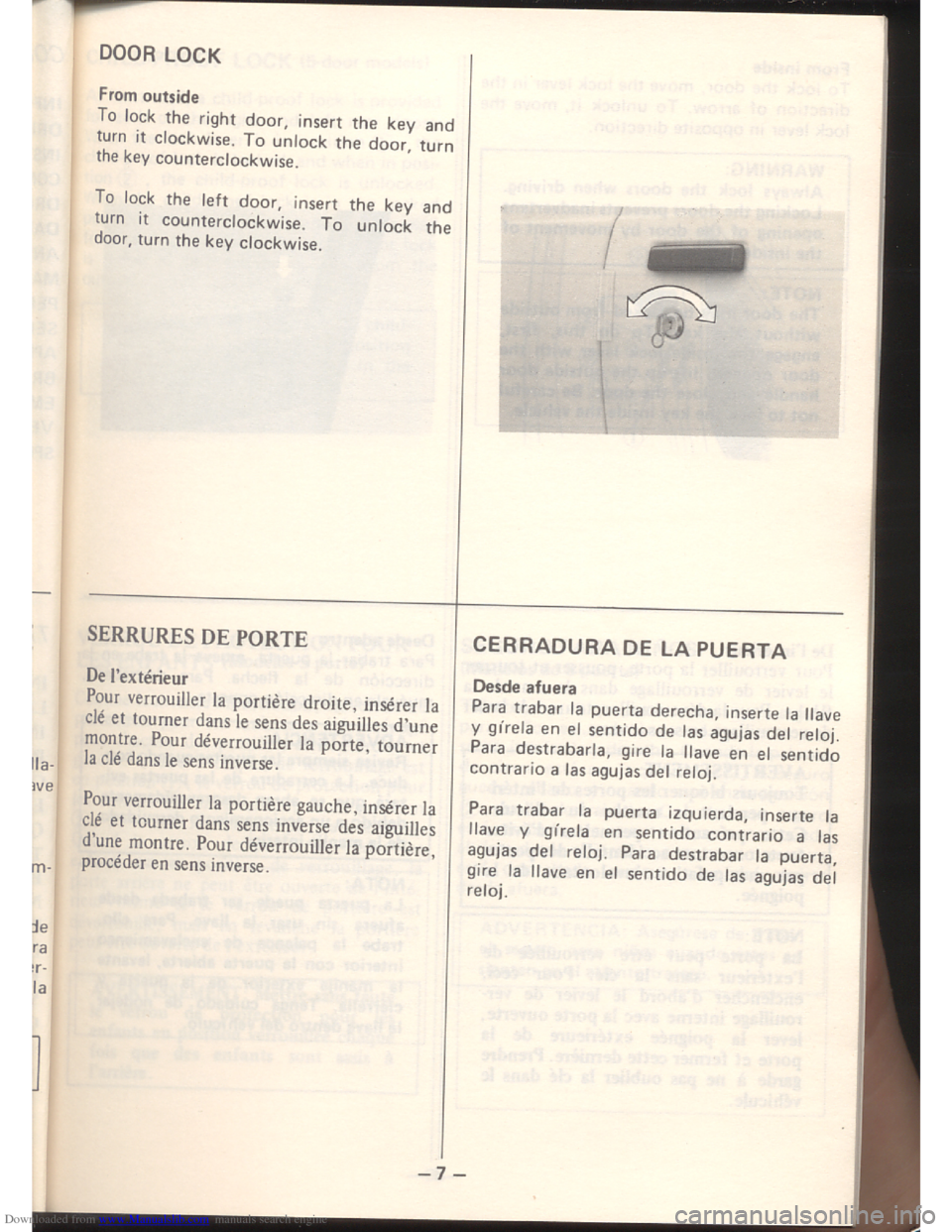 SUZUKI ALTO 1985 2.G Owners Manual Downloaded from www.Manualslib.com manuals search engine