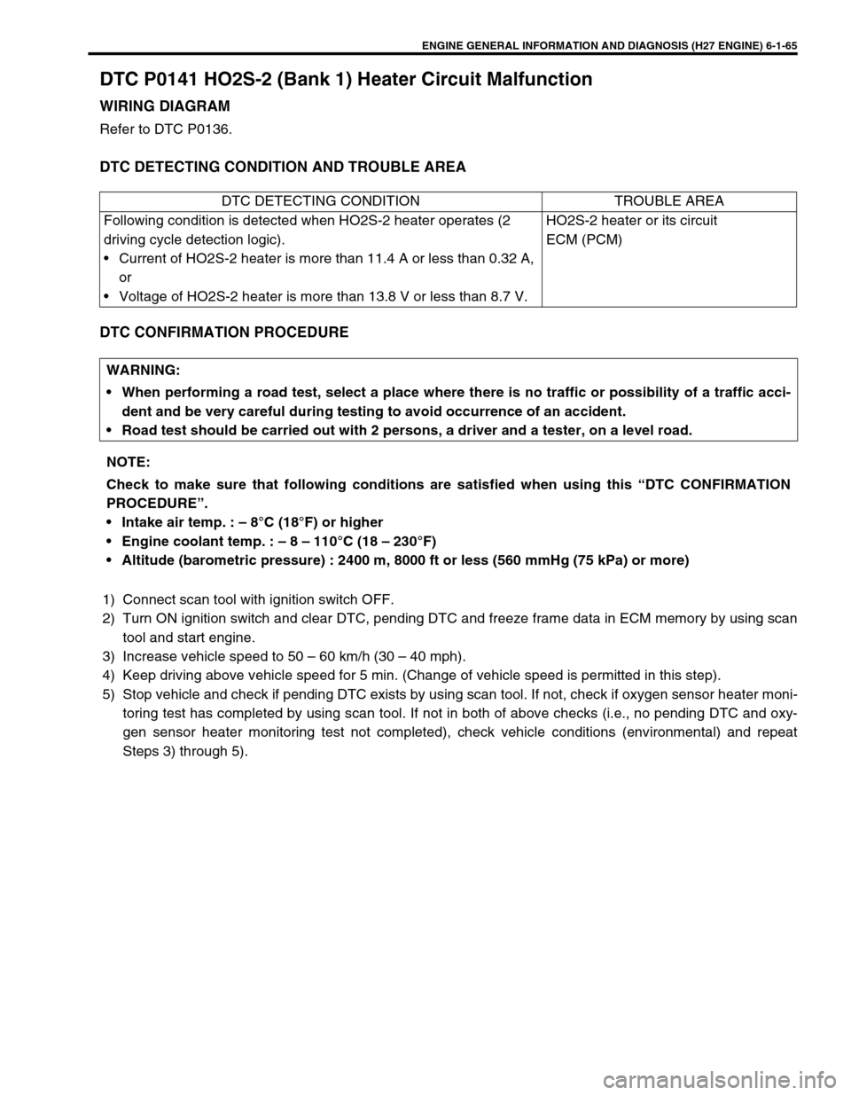 Suzuki Grand Vitara 2001 2g Owners Manual Engine Diagram Page 226
