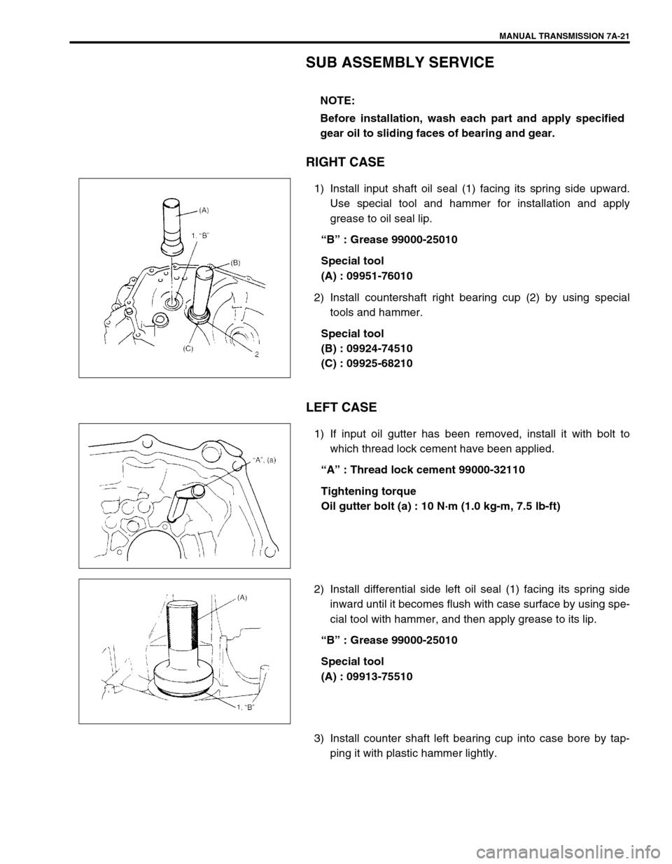 Suzuki Swift Transmission Diagram Schematics 2000 1 G Service Workshop Manual Mazda Mx3