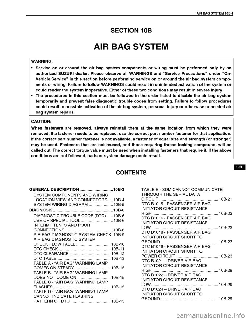 SUZUKI SWIFT 2000 1.G Transmission Service Workshop Manual, Page 375