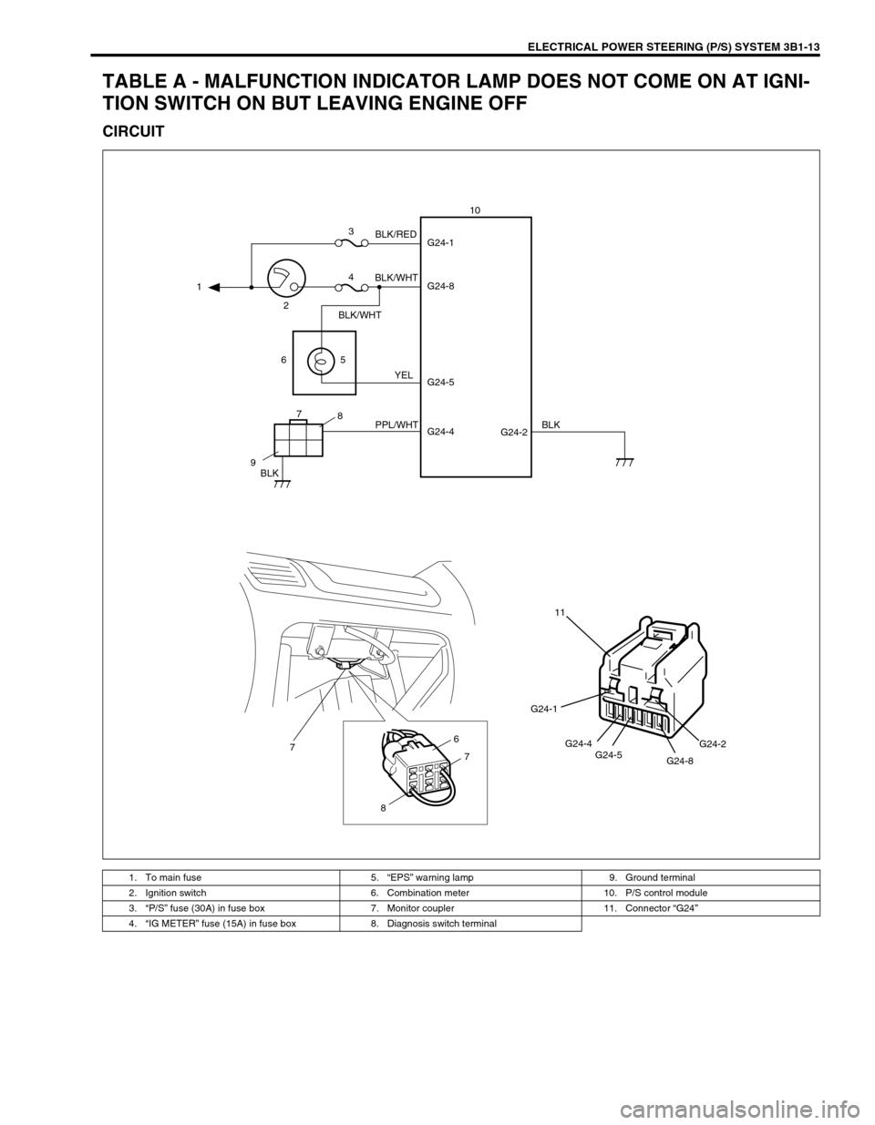 Engine Suzuki Swift 2000 1g Rg413 Service Workshop Manual Grand Vitara Fuse Box Page 154