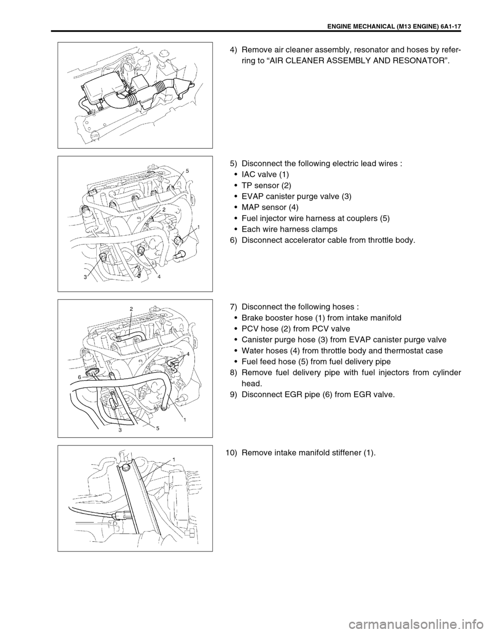 Suzuki Swift 2000 1g Rg413 Service Workshop Manual Wire Harness Clamps Page 518 Of 698