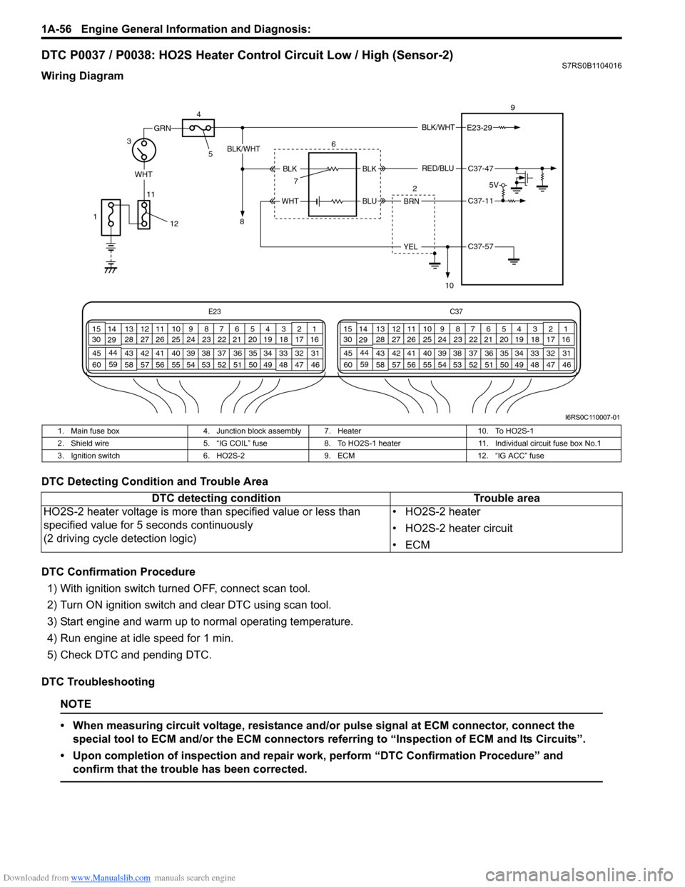 Engine Suzuki Swift 2005 2g Service Workshop Manual General Switch 60 Fuse Box Page 106 Of 1496