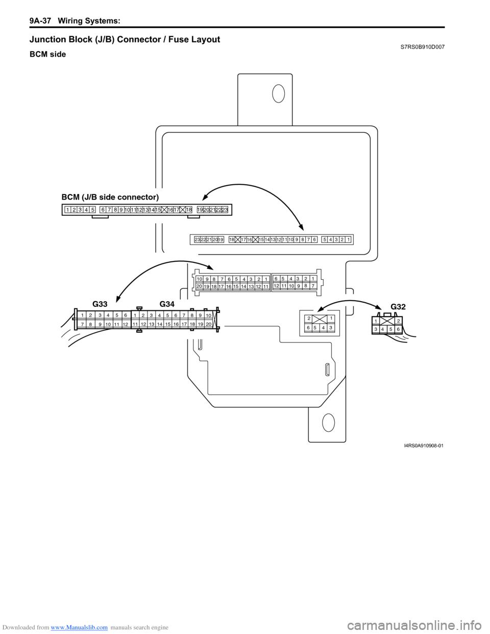 SUZUKI SWIFT 2005 2.G Service Workshop Manual, Page 1208