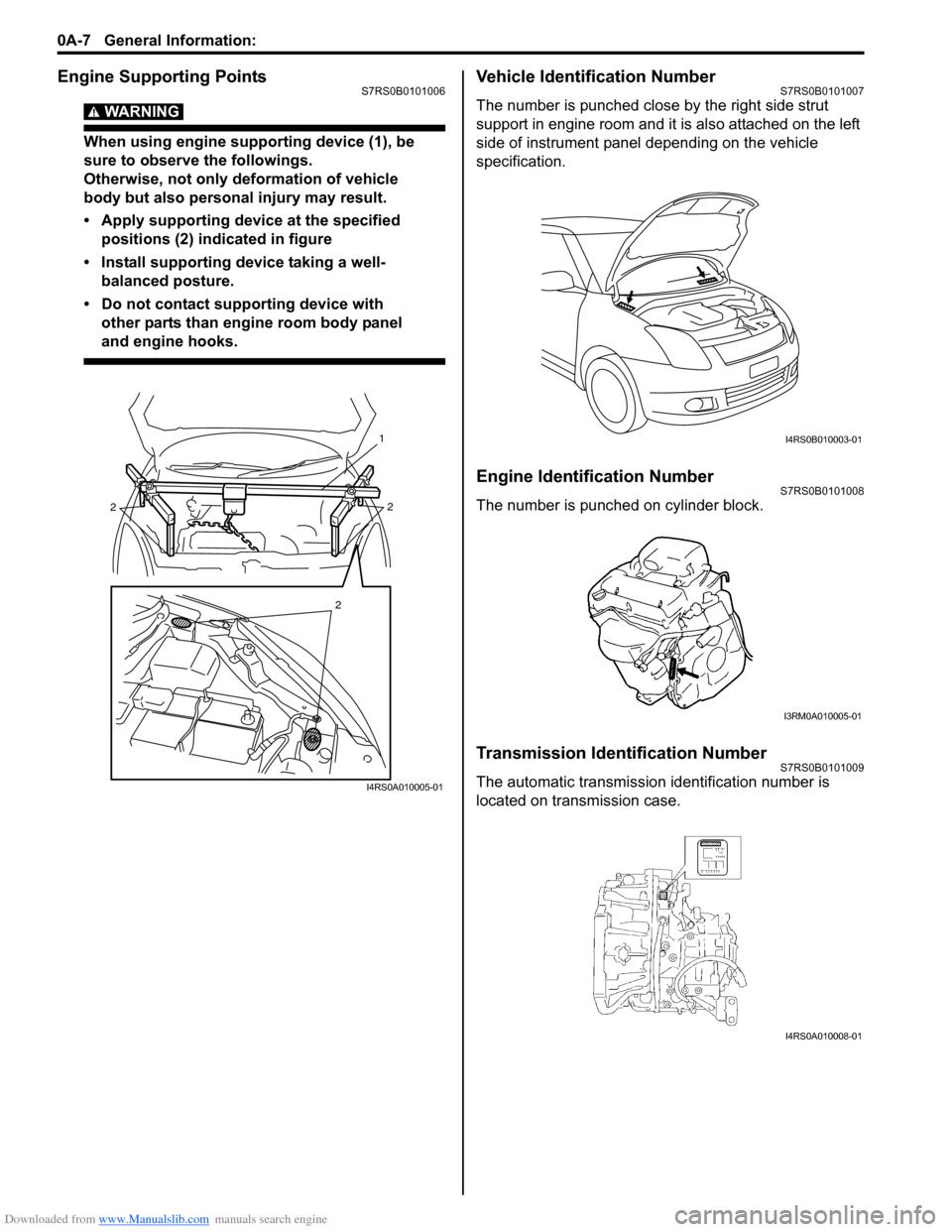 Suzuki Swift 2006 2 G Service Workshop Manual