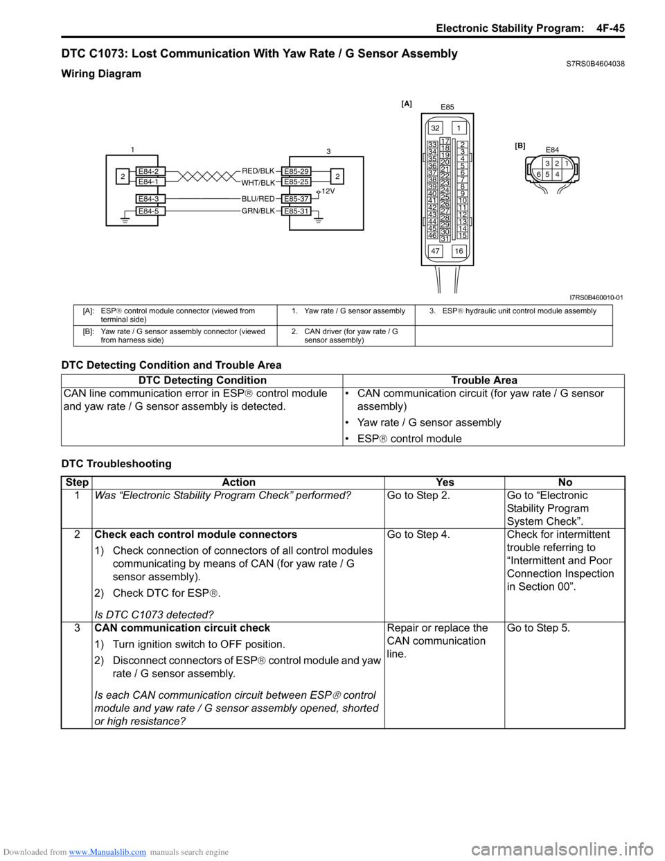 SUZUKI SWIFT 2007 2.G Service Workshop Manual, Page 619