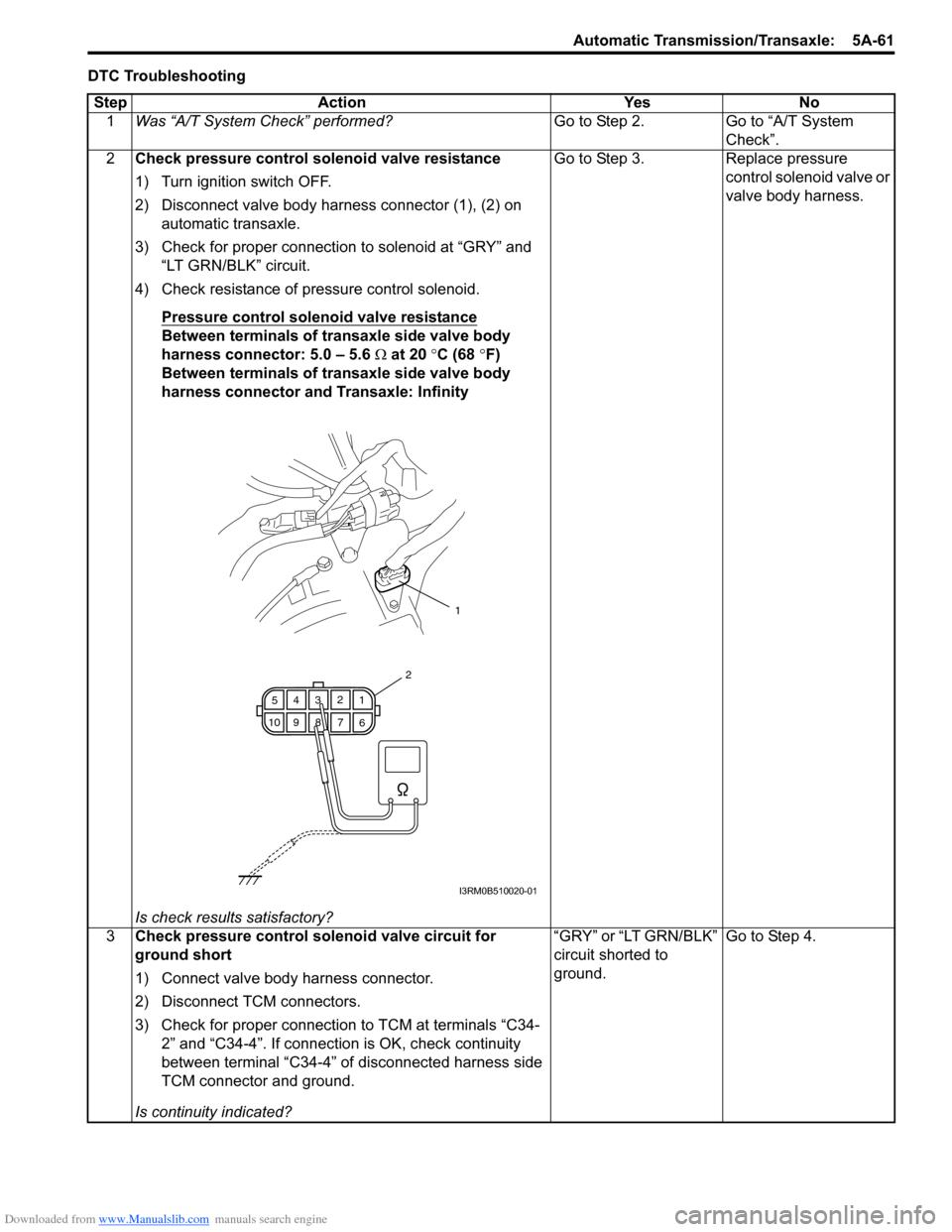 Suzuki Swift 2005 2g Service Workshop Manual 3 Terminal Solenoid Wiring Diagram G Page 705