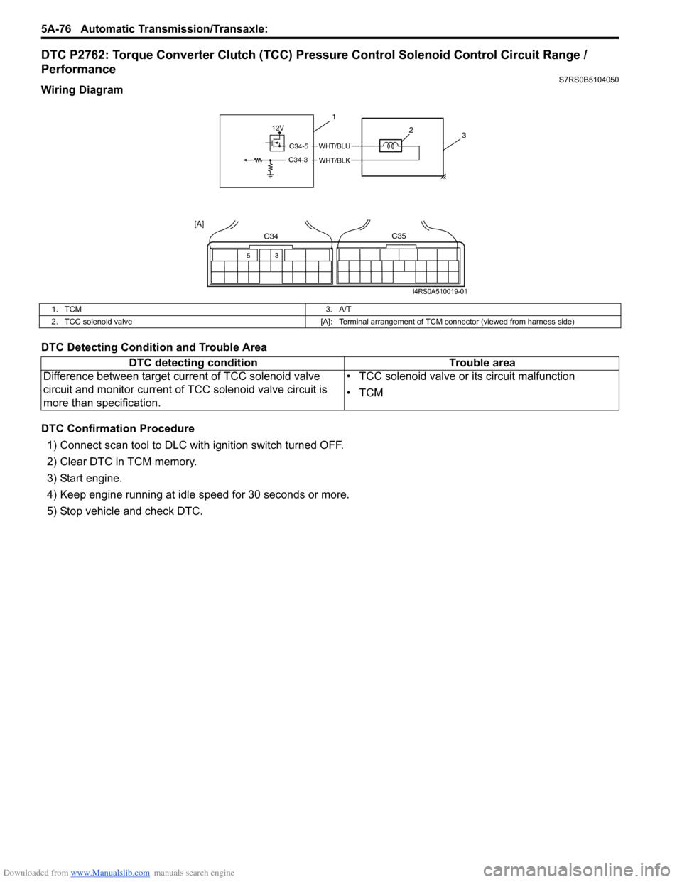 Suzuki Swift 2007 2g Service Workshop Manual 700r Torque Converter Wiring Diagram G Page 720
