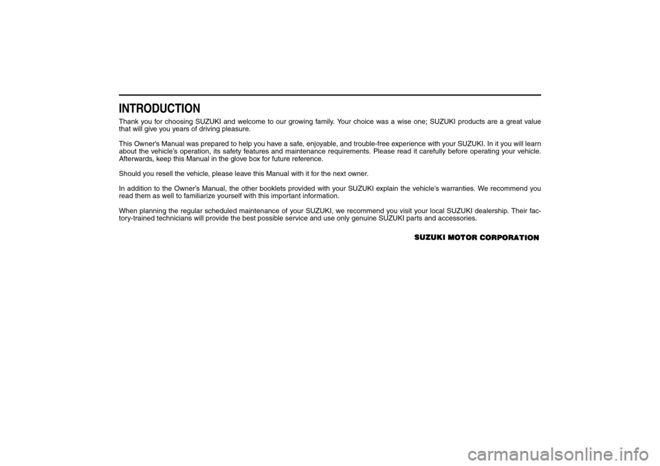 SUZUKI SX4 2008 1.G Owners Manual, Page 3